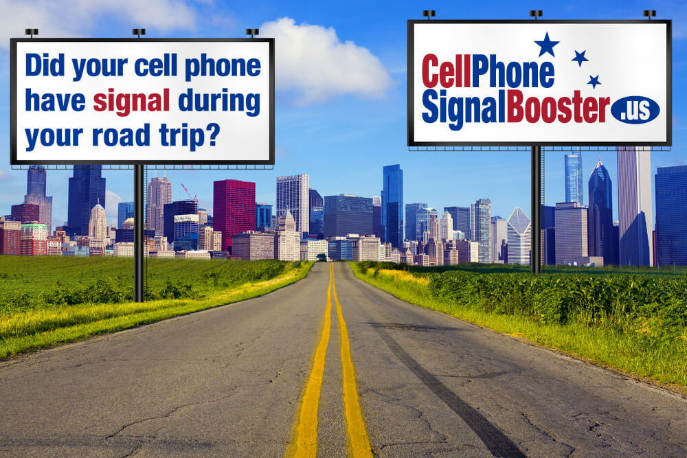 Don't get stranded on the road with no cell signal - But a cell phone signal booster!