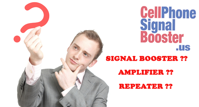 What is the difference between signal booster, amplifier, and repeater?