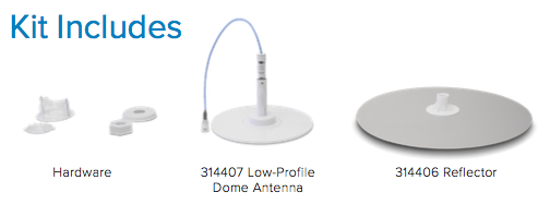 Low Profile Dome Antenna Kit Contents