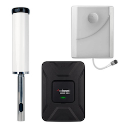 Marine 3G 4G LTE Signal Booster with Panel Antenna.