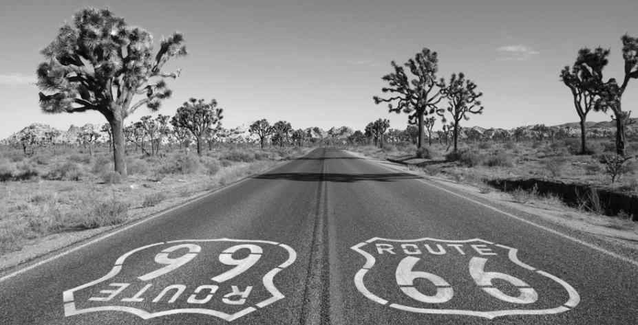 Route 66 with a cell phone signal booster for car