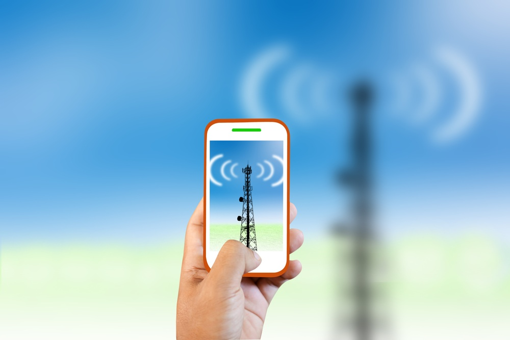 Uplink and downlink frequencies in cell phone signal boosters.