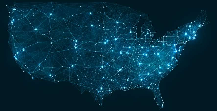 Telecommunication Map of USA