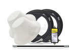 Dual Wilson Dome Antenna Expansion Kit 50 Ohm (weBoost/ WilsonPro 304412-50N2) with BLACK cables - This Purchase.