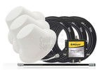 Triple Wilson Dome Antenna Expansion Kit 50 Ohm (weBoost/ WilsonPro 304412-50N3) with BLACK cables - This Purchase.