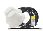 Wilson 2 Dome Antennas Expansion Kit 75 Ohm (weBoost/ WilsonPro 304419-75F2) with BLACK cables - This Purchase.