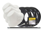 Wilson 3 Dome Antennas Expansion Kit 75 Ohm (weBoost/ WilsonPro 304419-75F3) with BLACK cables - This Purchase.