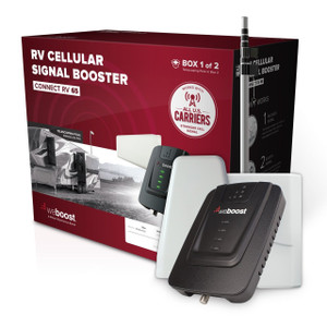 Stationary RV Cell Phone Signal Booster Retail Pack.