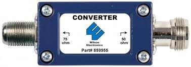 Wilson 859955 - 50 to 75 OHM Converter w/ N-Female Connector.