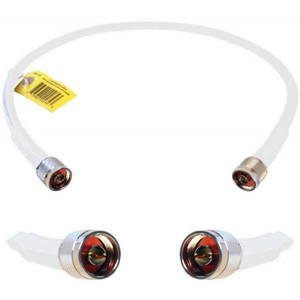 Wilson 952402 WILSON400 2 feet white cable with N-Male Connectors. weBoost 952402.