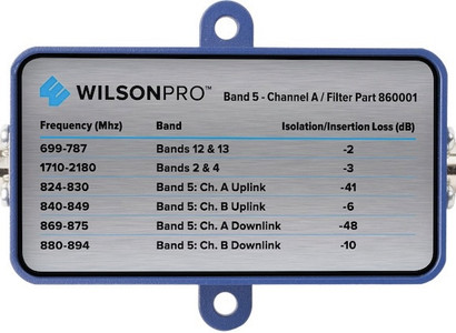 Filter to Block Band 5's Channel A with F-Connector for 75 Ohm WilsonPro 70 Signal Booster Part #'s 463134 & 460127 (Filter part # Wilson Pro 860001)