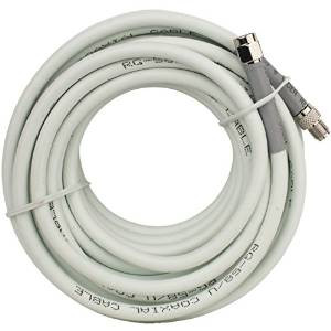 20 ft. RG58 White Cable w/SMA-Male to SMA-Female (weBoost Wilson 955823)
