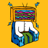 Watch out! You might end up like Mr. TV head if you watch too much television!