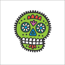 During the Day of the Dead holiday, sugar skulls are used to adorn altars.