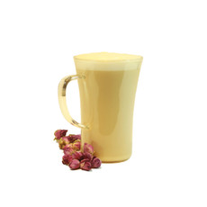 16) Rose Blossom Tea Latte