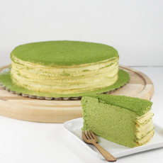 Green Tea Millie Crepe Cake