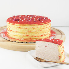 Strawberry Millie Crepe Cake