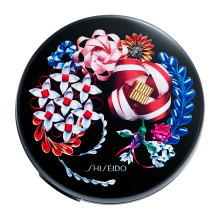 SHISEIDO Synchro Skin Cushion with Ribboneisa Limited Edition Case ~ Black ~ 2018 Holiday Limited Edition