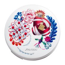SHISEIDO Synchro Skin Cushion with Ribboneisa Limited Edition Case ~ Vibrant White ~ 2018 Holiday Limited Edition
