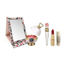 Promo! Les Merveilleuses LADUREE Face Color Rose + Cheek Brush + Lip Stick + Mirror set ~ 2018 Holiday Limited Edition