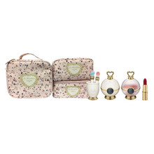 Promo! Les Merveilleuses LADUREE Face Color Rose + Face Powder N + Cheek Brush + Powder Brush set ~ 2018 Hoilday Limited Edition