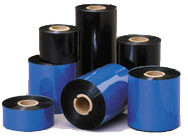 "4.33"" x 243' Black Wax/Resin Zebra Printer Ribbon Glossy Labels"