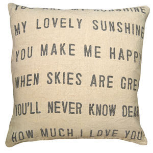 You Are My Sunsine Pillow