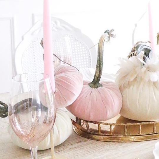 Pink Velvet Pumpkins