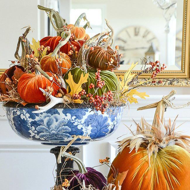 Feathered Pumpkins