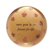 """Set of 2 """"Amis pour la vie"""" Paperweights"""