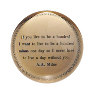"Set of 2 ""If you live to be a hundred"" Paperweights"