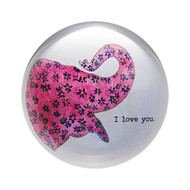 "Set of 2 ""i love you - Elephant"" Paperweights"
