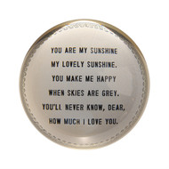 "Set of 2 ""You are my sunshine"" Paperweights"