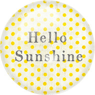 "Set of 2 ""Hello Sunshine"" Paperweights"