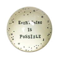 "Set of 2 ""Everything is possible"" Paperweights"