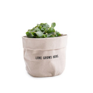 Love Grows Here - Small Canvas Planter