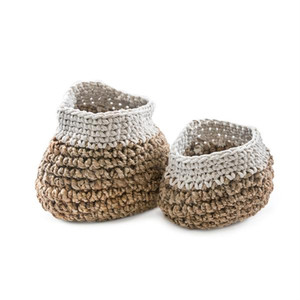 What a great combo to organize toys, blankets and more. This large and medium jute basket pair will surely be helpful to you to gather items and help organize and tidy any room up.