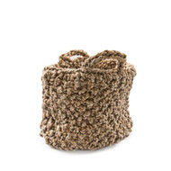 Medium Knitted Jute Basket with Short Handles