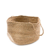 Large Jute Basket with Long Handles