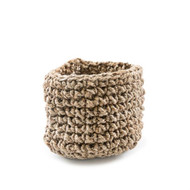 Small Knitted Jute Basket