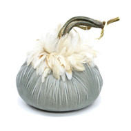 Spa Velvet Pumpkin with Ginger Schlappen Feathers