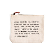 "Namasté ""My Soul Honors Your Soul"" - Canvas Bag"