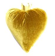 Gold Velvet Heart