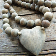 Oversized Prayer Beads with Heart