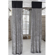 Grey Jute & Platinum Velvet Curtain