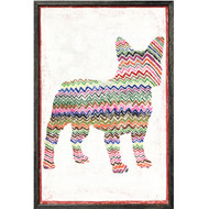 Frenchie with Zig Zag Art Print