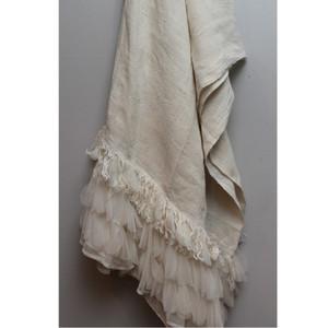 Ivory Linen Throw