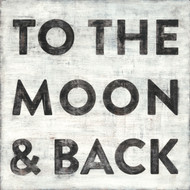 Small Art Print - To the Moon and Back