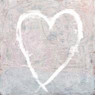 Small Print - White Heart