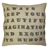 Always Keep Your Beautiful Imagination Pillow